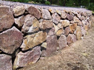 Камень для подпорных стен